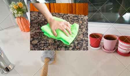 Mutfak tezgahını temizlemek